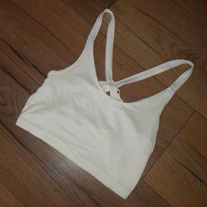 White thin strap crop top